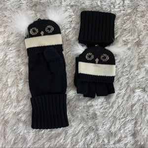 Kate Spade Penguin Convertible Mittens Feather